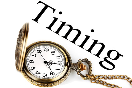 Timing - concept of business. Pocket watch with timing sign on the white background
