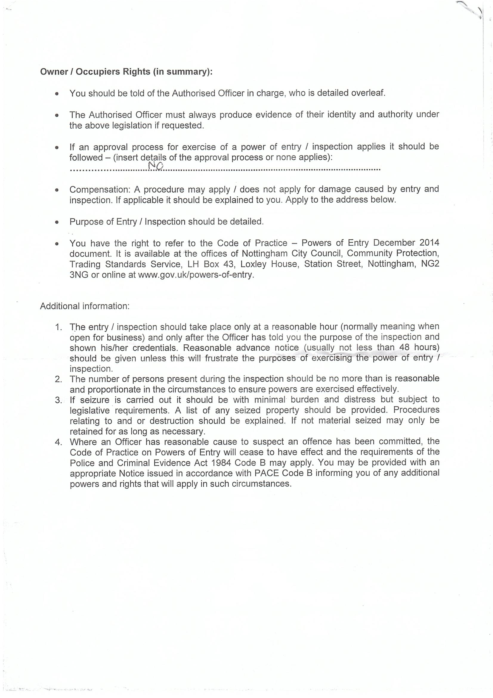 Trading Standard p2-1